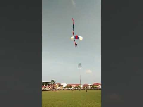Terjun payung d lapangan persitad kuala tungkal oleh TNI AL