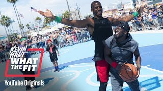 bonus scene kevin shows chris paul he can shoot kevin hart what the fit laugh out loud network