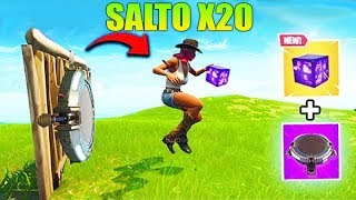 INCREÍBLE TRUCO SALTO X20 !!! FORTNITE BATTLE ROYALE Makigames
