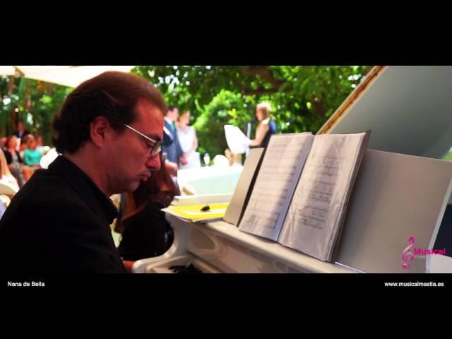 Nana de Bella Crepusculo boda civil Canciones bodas piano cola blanco Estudio de Ana