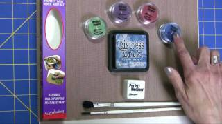 Using Distressing Inks with Perfect Pearls