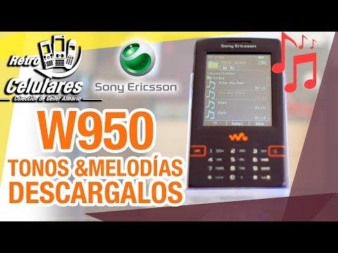 Tonos y melodías 🎵 SONY ERICSSON W950 DESCARGALOS retro celulares