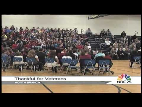 Honoring Veterans at North Branch Ruth Fox Elementary School