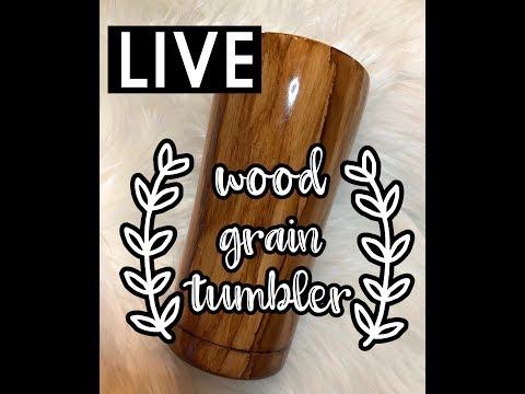 LIVE Wood Grain Tumbler