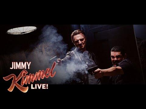 Taken 4 with Liam Neeson, Guillermo & Jimmy Kimmel