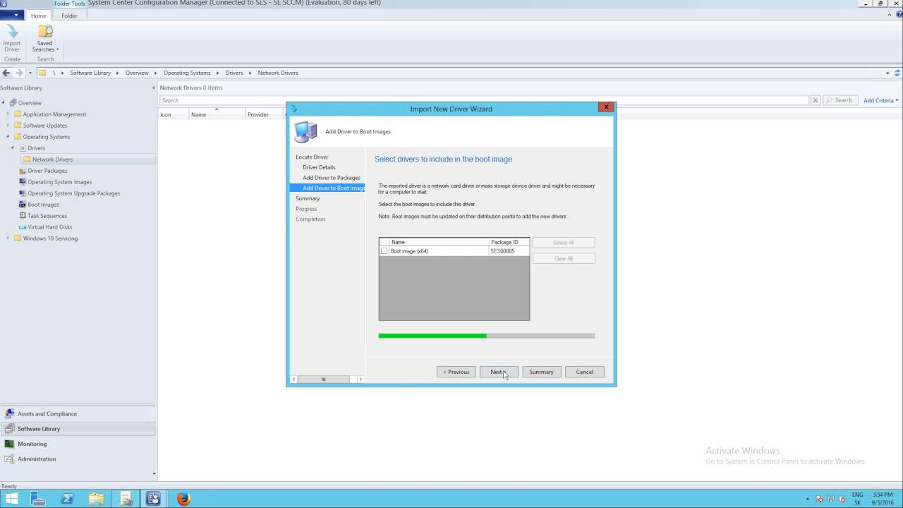 SCCM 2012 R2 - Import new network drivers to boot image in System center  configuration manager