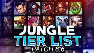 Tarzaned   JUNGLE TIER LIST   PATCH 8.6   BEST JUNGLERS FOR SOLO QUEUE