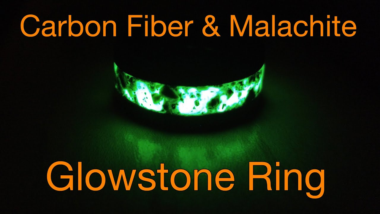 How To Make A Malachite And Carbon Fiber Glow Ring On A Lathe