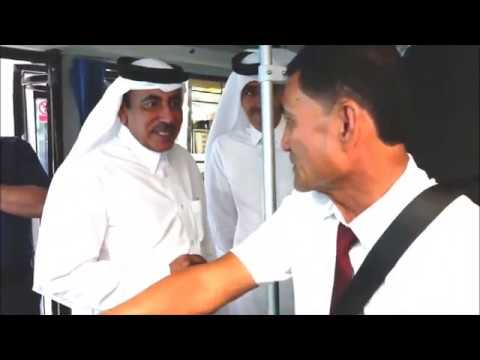 The start of the pilot testing of electric buses in Qatar