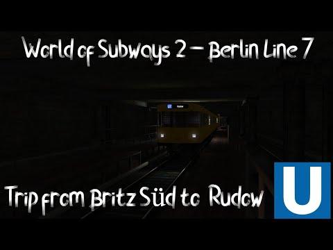 World of Subways 2 – Berlin Line 7 - Trip on F90 from Britz Süd to Rudow. |
