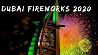 Spectacular fireworks in Burj al arab || New year celebration 2020 || Dubai