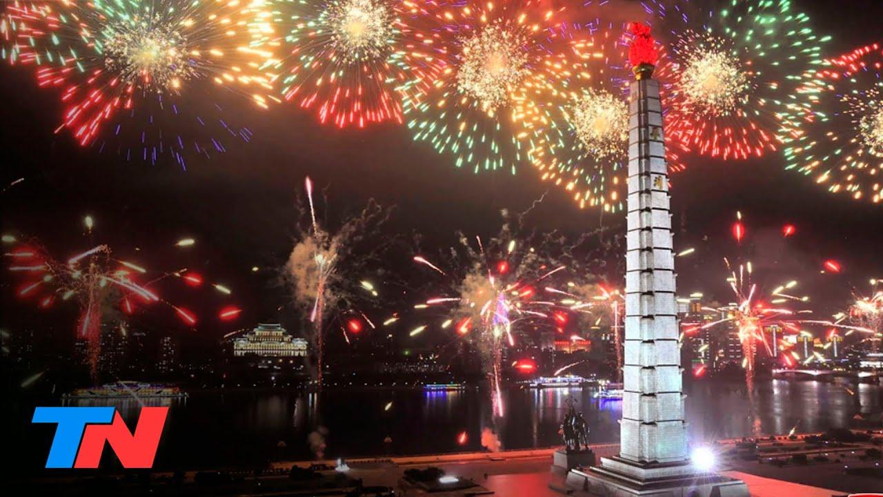 Corea del Norte recibió al año nuevo 2021 con un imponente show de fuegos artificiales