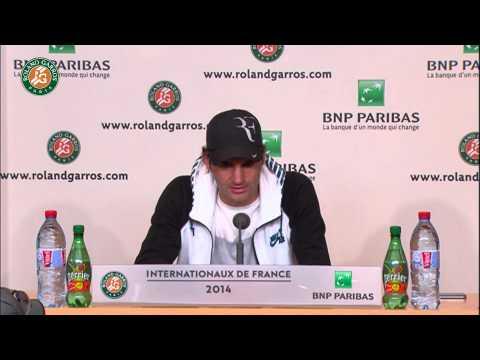 Roland Garros 2014 Sunday2 Interview Federer