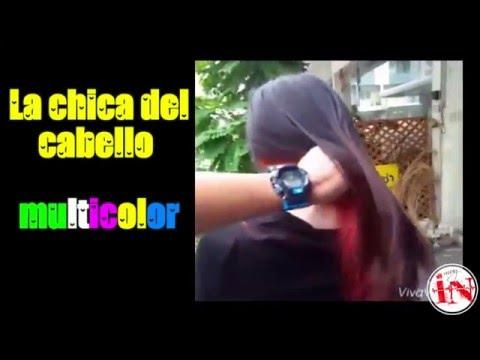 La chica del cabello multicolor  Internet muy Interesante