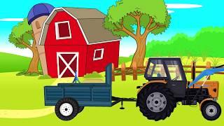 Red #Tractor folding | Video for Kids animations | Czerwony Traktorek - Składanie | Animacje #Dzieci
