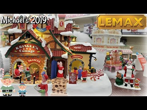 * FIRST LOOK * Michaels LEMAX CHRISTMAS VILLAGE 2019 * SHOP WITH ME