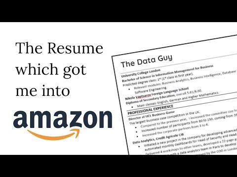 How To Land An Amazon Internship - CV Review