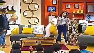 Ayu Ting Ting Buka Baju Depan Eko Patrio di ANTV.