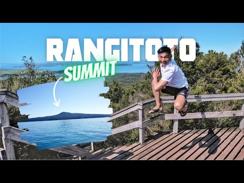 Climbing Auckland's largest volcano RANGITOTO ISLAND and visiting Commercial Bay | NEW ZEALAND