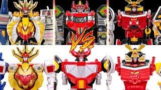 PowerRangers Deluxe VS Joint Union WildForce MegaZord MMPR LegacyMegaZord SamuraiMegaZord Transform