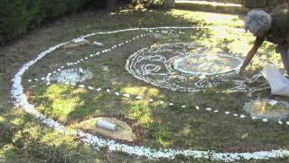 Mandala en la naturaleza. Art de Tat