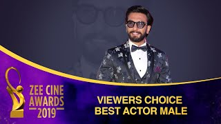 Ranveer Singh for Padmaavat | Viewers Choice Best Actor Male | Zee Cine Awards 2019
