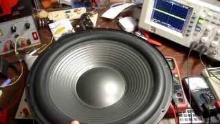 Measuring speaker free air resonance