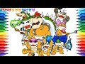 How to Draw Super Mario Bros, Bowser & Koopalings #226 | Drawing Coloring Pages Videos for Kids