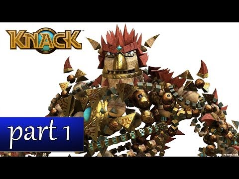 Knack Gameplay Ch. 1 - His Greatest Creation (PS4 Walkthrough HD) - Part 1