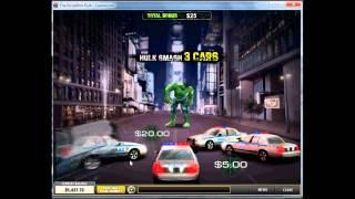 видео Получите джекпот в автомате The Incredible Hulk