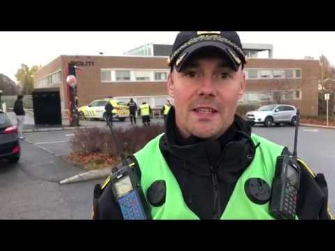 Evakuering av politistasjonen i Skien