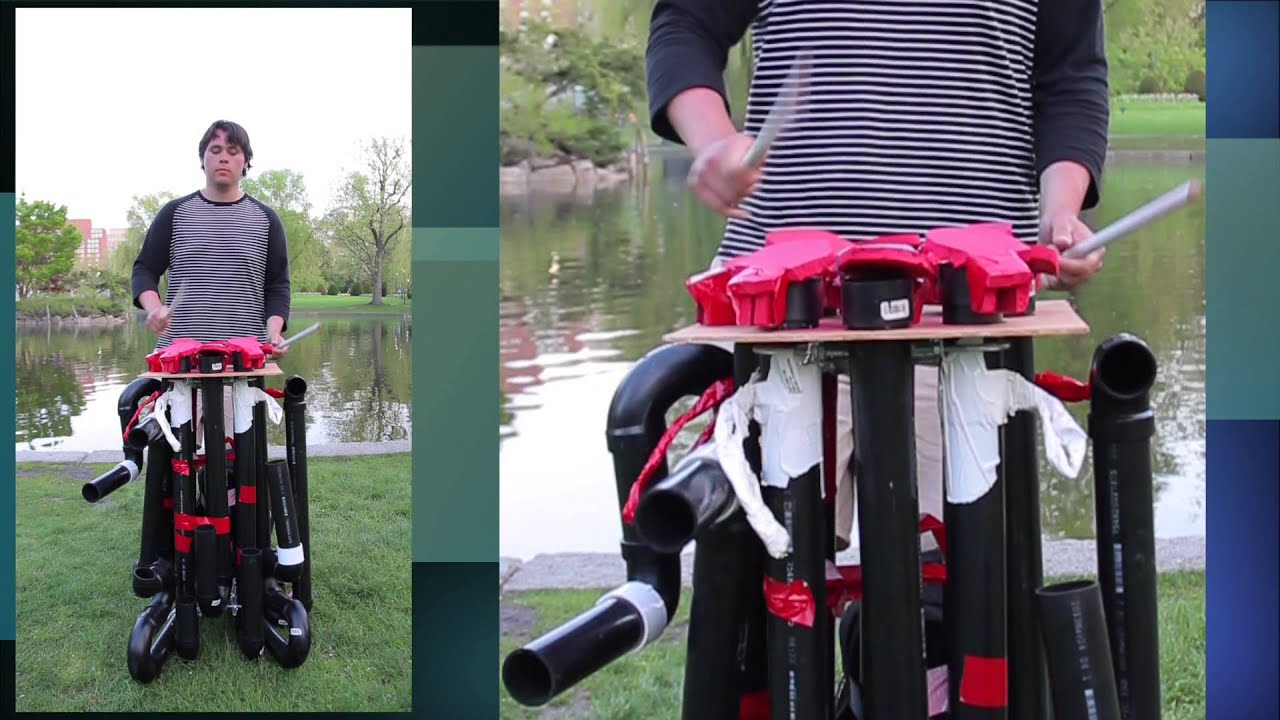 wow this guy 39 s home made pvc pipe drum instrument is amazing youtube. Black Bedroom Furniture Sets. Home Design Ideas