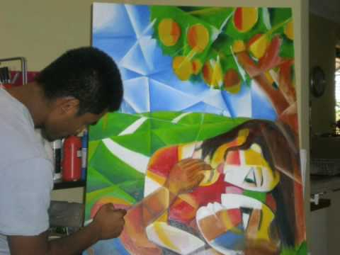 Under The Mango Tree Painting Artwork by Samith Pich Perth Artist