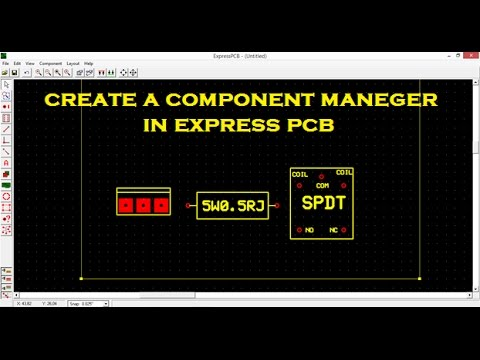 how to create a component manager in express pcb software - YouTube