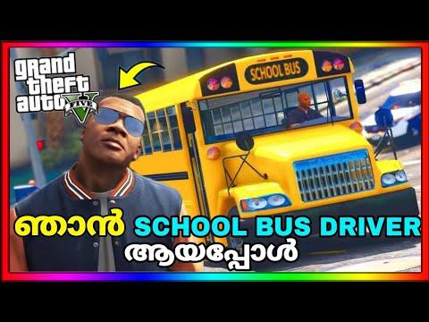 Playing as SCHOOL BUS DRIVER in GTA 5 | GTA 5 MALAYALAM | GAME THERAPIST |