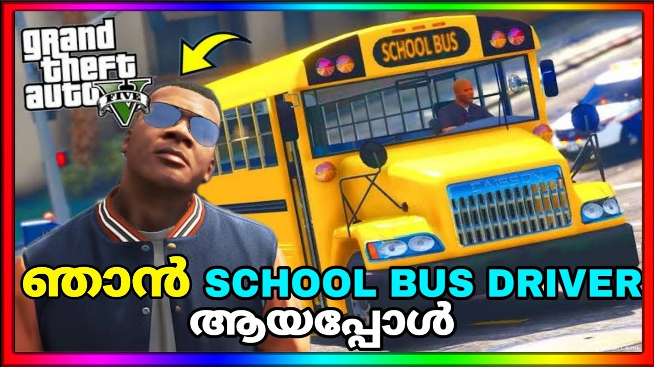 Playing as SCHOOL BUS DRIVER in GTA 5 | GTA 5 MALAYALAM | GAME THERAPIST