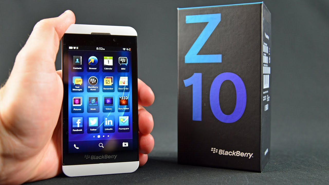 Blackberry Z10: Unboxing & Review - YouTube