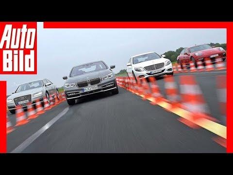 BMW 750i vs. Audi A8 vs. Mercedes S500 & Porsche Panamera GTS