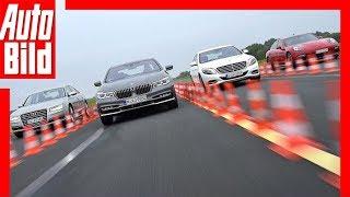 BMW 750i vs. Audi A8 vs. Mercedes S500 vs. Porsche Panamera GTS