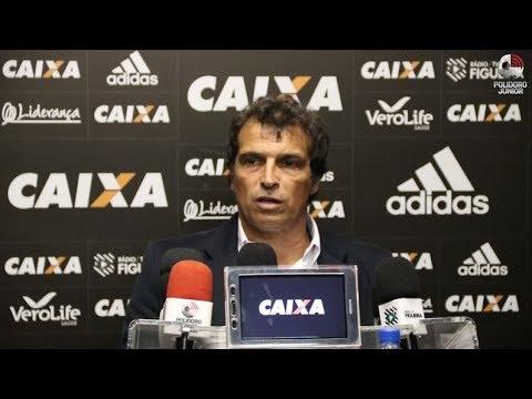 Coletiva de apresentação no Figueirense do técnico Milton Cruz - 08/08/2017
