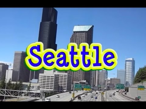 Seattle, Washington TOUR: Downtown, Puget Sound, Space Needle, I-90 Bridge, Pike Place Market