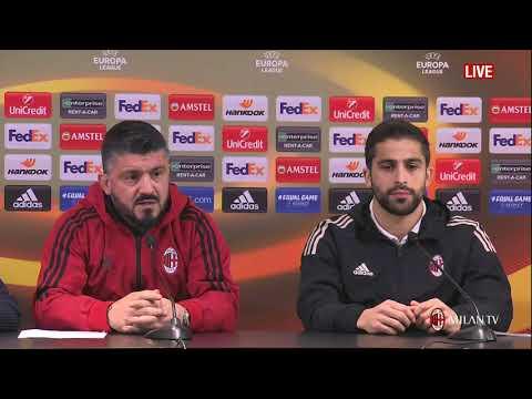 Gattuso conferenza pre Milan - Ludogorets EL del 21.02.2018