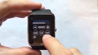 Видео обзор Смарт Часы-телефон под IOS и Android  Smart Watch GT08(Часы-телефон