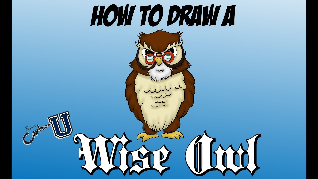 How To Draw A Wise Owl ADVANCED