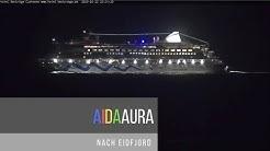 Die AIDAAURA am 22.02.20 nach Eidfjord