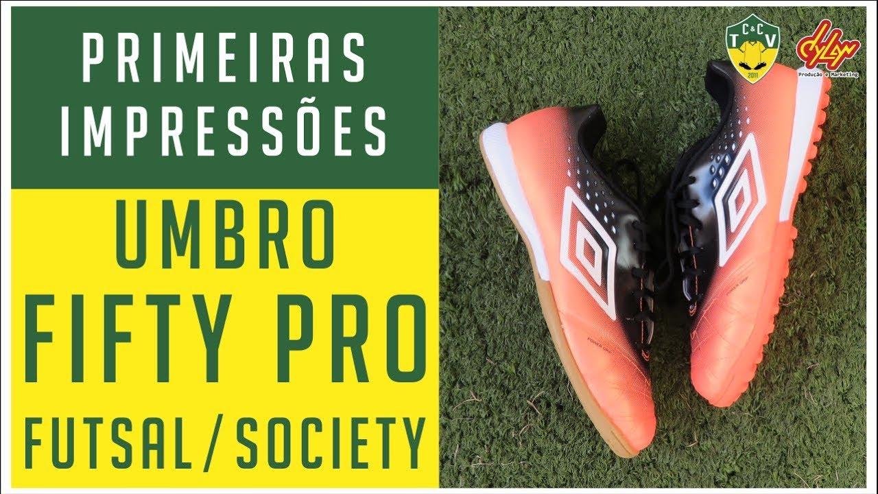 cc94699bdc CHUTEIRA BOA E BARATA  UMBRO FIFTY PRO FUTSAL E SOCIETY - PRIMEIRAS ...
