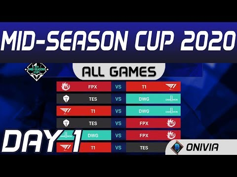 MSC 2020 Highlights Day1 Mid Season Cup All Games By Onivia