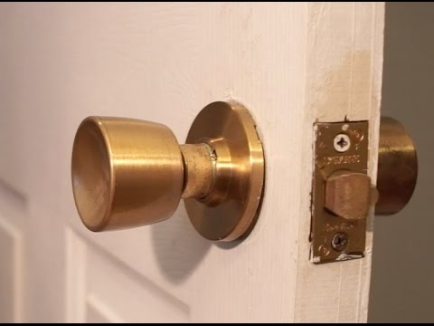 How to Remove Old Door Knob without visible screws - YouTube