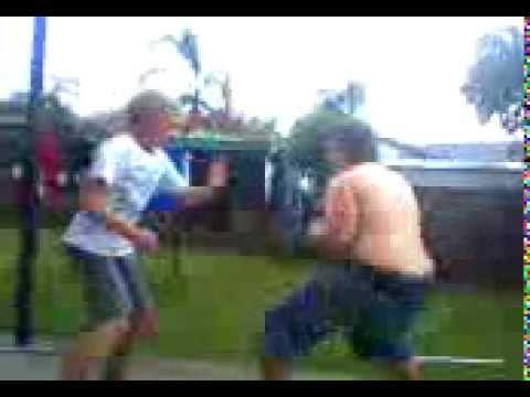fat c#nt vs kid fight