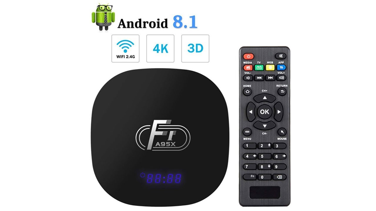 Android 8 1 TV Box,Dolamee F1 Smart tv Box 2GB RAM 16GB ROM Amlogic Quad  Core 64bit Processor